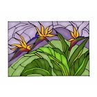 Birds of Paradise Art Glass Hanging Window Panel 205 x 14 Country Home Decor
