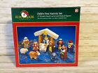 Kurt Adler Wooden Hand Carved Childs First Nativity Set 12pc w Box