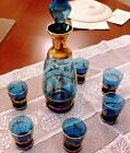 Vintage Hand Blown Murano Wine Decanter 7 Piece Purchased at the Murano Factory