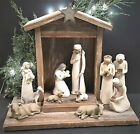 Vintage Barn Wood Handcrafted Creche For Willow Tree Nativity figs not incl