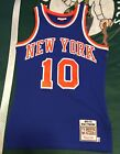 Authentic Mitchell And Ness Jersey New York Knicks Walt Frazier Men's Small 36 S