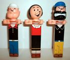 POPEYE KLIK SET OF 3 - W/ OLIVE OYL & BRUTUS - LOOSE - BUT NEW & UNUSED - 2004