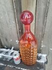 RARE BLENKO BUBBLE WRAP AMBERINA 1960s ERA by HUSTED BOTTLE BLOWN GLASS 16 4LBS