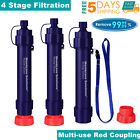Personal Survival Water Filter Straw Purifier Outdoor Camping Hiking Travel Gear