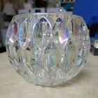 Clear Glass Rainbow Candle Holder
