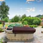 ALEKO 2 Person Natural Pine Hot Tub with Charcoal Stove Boiler 132 Gallons
