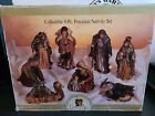 Grandeur Noel Nativity Set Collectors Edition Hand Painted Porcelain 9 pcs