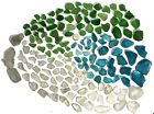 150+ Genuine Beach Sea Glass Surf Tumbled Mixed Colors Blue Green White 112 lbs