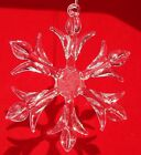24 Clear Glass SNOWFLAKES Each SF is unique Christmas Holiday Ornaments