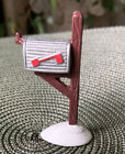 Christmas village accessory Lemax metal post mail box EX2928