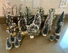 Lot of 19 Lemax Christmas Trees Snow Frost Village Accessories