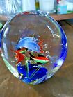 Murano Vintage Art Glass Fishtank Aquarium Sculpture 6 fish Beautiful