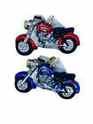 Radko: NWT 2001 'Easy Rider/Victory' Red and Blue Motorcycle ornament set