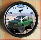 2021 Ford BRONCO CUSTOM Let me put your ride black 10 Inch Wall clock NEW
