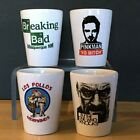 Shot Glasses 15 oz Breaking Bad Set of 4 different images Logo Pinkman