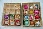 18 Vintage Santa Land Glass Christmas Tree Ornaments Some Indents 2 Boxes Poland