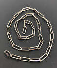 Vtg Pawn Handmade Navajo Native American Sterling Silver Link Chain Necklace 22