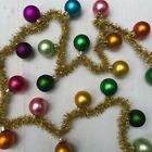 New Cody Foster Rainbow Glass Garland With Gold Tinsel 6