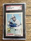 1978 Topps #72 andre Dawson Signed All Star Rookie Autograph Auto SGC Authentic