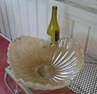 Murano Glass Bowl Large Centerpiece Caramel  Iridescent Gold Italy Handcrafted