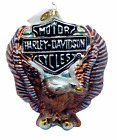 NWT Radko Harley Davidson 2001 'Rising High' Glass Ornament- signed by designer