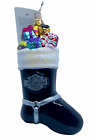 NWT Radko 2001 Harley Stocking Glass Ornament