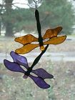 Handmade Stained Glass DRAGONFLY SuncatcherDF099