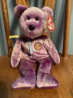 Ty Dreamer The Purple Bear Beanie Baby Of The Month Mint With Mint Tags