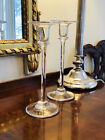 SIMON PEARCE Cavendish Artisan Crafted Hand blown Glass Signed Candlesticks
