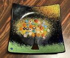 Murano Glass Millefiori Tree Of Life Plate Trinket Tray
