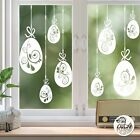 10 x Swirl Easter Egg Window Decals White static cling reusable not sticker