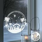 Christmas Nativity Ring Window Decal static cling reusable not sticker
