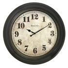 Oversized Wall Clock Accent Wall Ideas 24 Inch Antiqued Case Classic Vintage