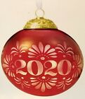HALLMARK 2020 Christmas Commemorative Glass Metal 8th Series Red