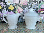 WESTMORELAND GLASS Milk Glass SUGAR BOWL and Milk Glass CREAMER vintgage