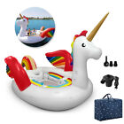 6 Person Inflatable Swimming Pool Unicorn Giant Lake Beach Party Floating Island