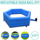 15 Inflatable Gaga Ball Pit Gagaball Court with Electric Air Blower for School