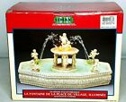 Lemax Lighted Village Square Fountain Cherub Angel Christmas Water Fountain 2001
