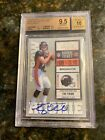 2010 PLAYOFF CONTENDERS 234A TIM TEBOW AU 400 BLUE JERSEY 9.5 GEM MINT BGS 10 FG