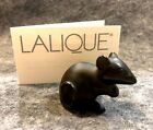 Lalique French Crystal Black Mouse Figurine NIB 10055900