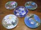 Lot 5 Sydenstricker Painted Glass Plates Artisan Crafted Fused Glass