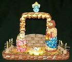 WOW HAND CARVED  HAND PAINTED RUSSIAN NATIVITY SET 0441