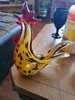 Hand blown Art Glass Rooster Murano style