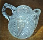 Crystal Clear Glass Rum Jug US Glass Co early 1900s rare pitcher unique