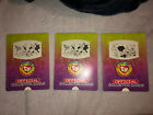 (3) 1998 RARE Ty Beanie Babies Official Collector's Club Series Slider Cards