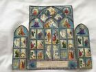 Vintage Beautiful 1950s Hallmark Christmas Advent Calendar in cathedral shape