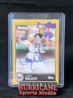 Larry Walker 2020 Topps Brooklyn Collection GOLD 50 AUTO AUTOGRAPH ROCKIES