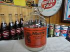 MOXIE CLEAR GLASS PAPER LABEL SODA FOUNTAIN SYRUP 1 GALLON JUG