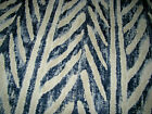 Ralph Lauren Pumba Blue White Ethnic Native Western Fabric Remnant Sample B