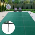 For Winter Swimming Pool Safety Cover With Steps Rectangle Inground Mesh Solid